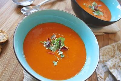 vegan roasted red pepper soup