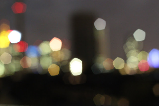 Bokeh, Night, Blurry, Skyline, Frankfurt