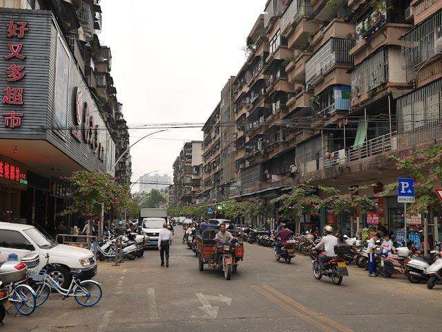 section of Baisha Road in Jiangmen