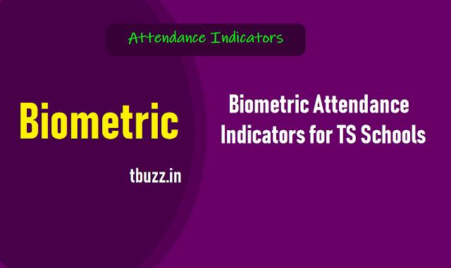 Biometric Attendance Indicators,తెలంగాణ పాఠశాలలో బయోమెట్రిక్ హాజరు విధానం,ఉన్నత పాఠశాలల్లో బయోమెట్రిక్ హాజరు విధానం,ప్రాథమిక, ప్రాథమికోన్నత పాఠశాలల్లో బయోమెట్రిక్ హాజరు విధానం
