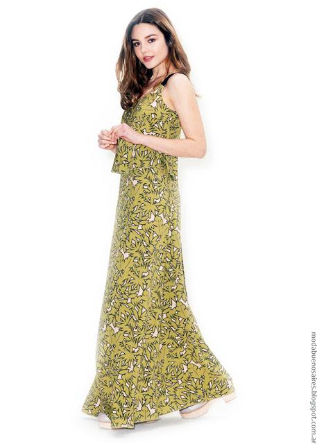 Moda 2017. Vestidos largos moda primavera verano 2017. Asterisco colección primavera verano 2017.