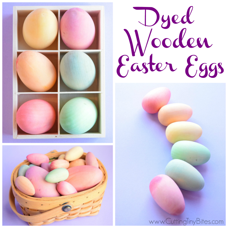 Dyed Wooden Easter Eggs | What Can We Do With Paper And Glue