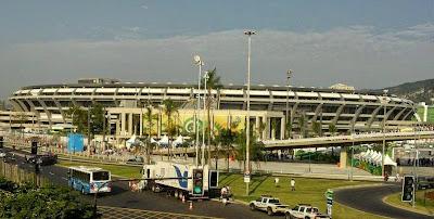 Foto do estádio do Maracanã, o maior do mundo