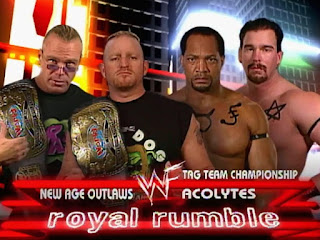 WWE / WWF Royal Rumble 2000 - The New Age Outlaws faced The Acolytes for the Tag Team Titles