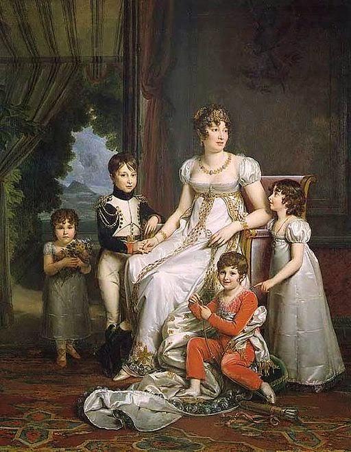 Caroline Bonaparte Murat and her Children by François Gérard, 1808