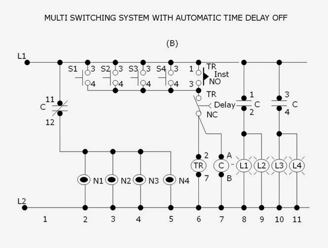 Multi Switching System With Automatic Time Delay Off  Mstdo