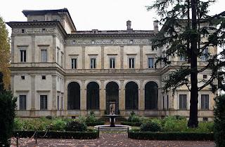 The Villa Farnesina in the Trastevere district in Rome