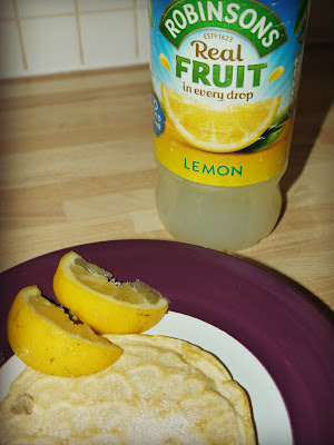 Lemon and Sugar Pancakes with Robinsons Lemon Squash