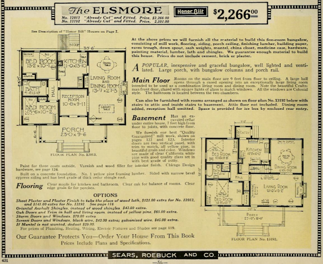 sears elsmore two floor plans 1923