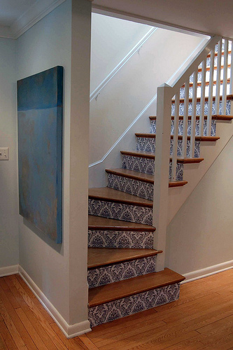Walls: Wallpaper Inspiration...Stairs and Stairwells