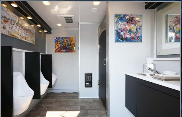 "Spacious Interior of ""The Modern"" Restroom Trailer"
