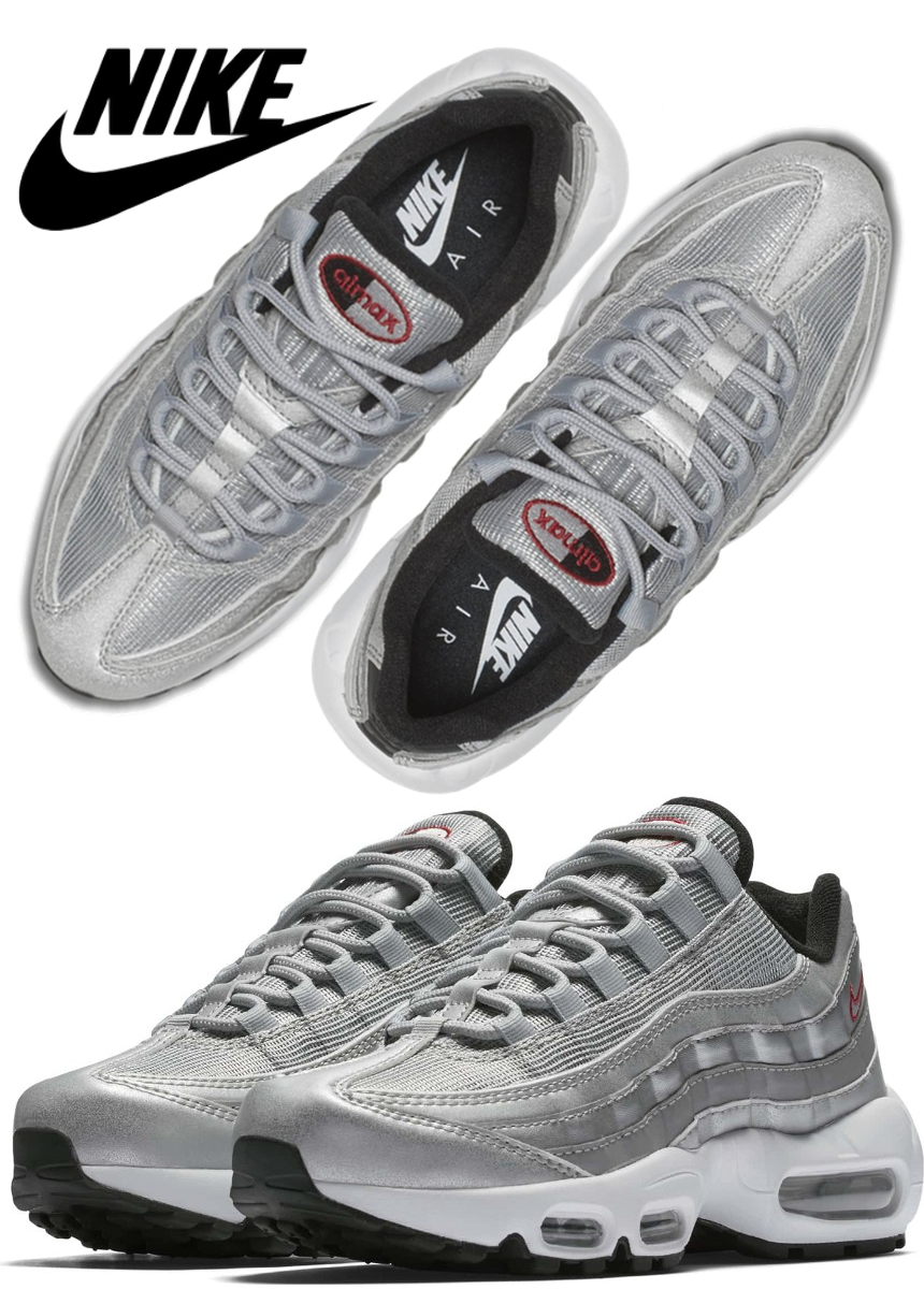 Nike Air Max 95 QS Running Shoe Silver