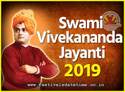 2019 Swami Vivekananda Jayanti Date & Time, 2019 National Youth Day Calendar