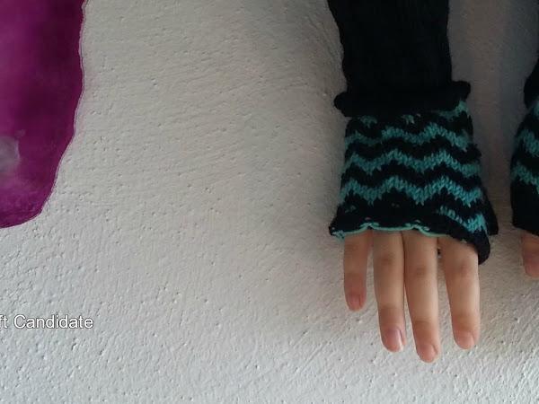 Siksak-kämmekkäät - Zigzag fingerless gloves
