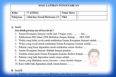 Soal PH / UH PJOK Kelas 5 Kurikulum 2013 Tahun 2019