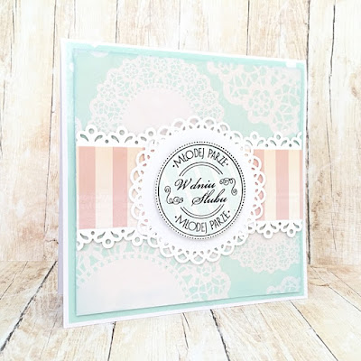Scrapbooking wedding card