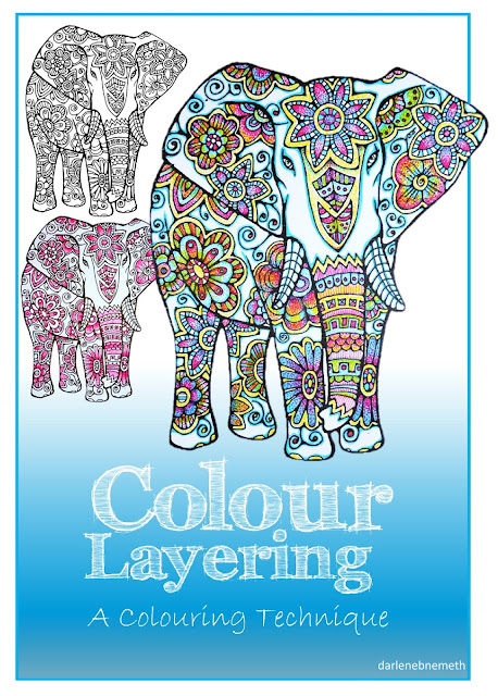 Three Elephants Coloured