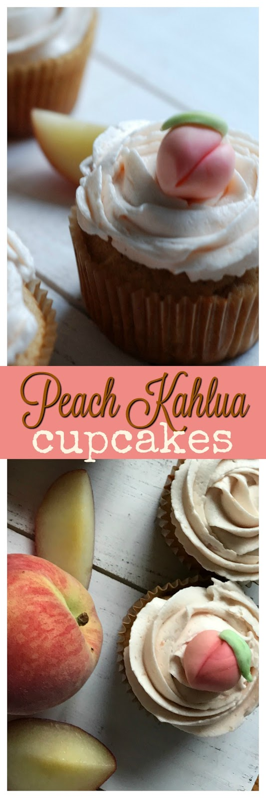 easy peach kahula cupcakes and buttercream recipe
