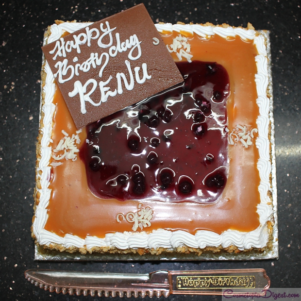 Happy birthday renu vanilla blueberry cake
