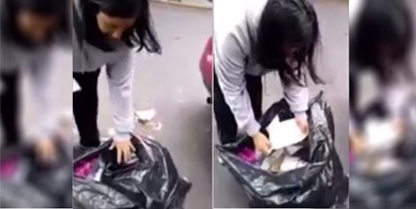 ¡Por cochinos y dejar la basura abandonada!  Esta mujer les dio una buena lección