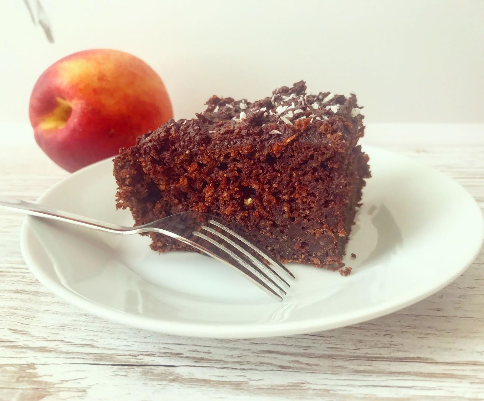 Ciasto czekoladowe, wysokobiałkowe z ciecierzycą