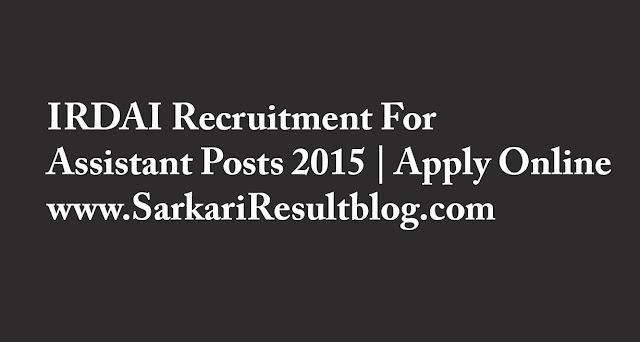 IRDAI-Recruitment-Assistant-Posts-2015