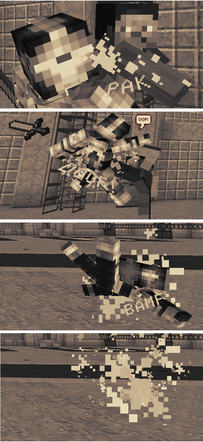 MInecraft Fight Scene Comic