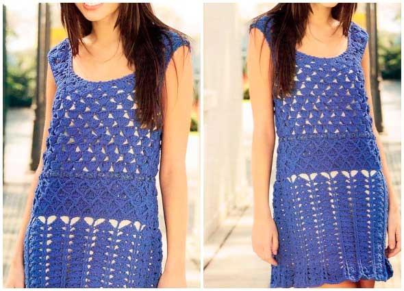 vestido, túnica, crochet, ganchillo, patrones, mujer