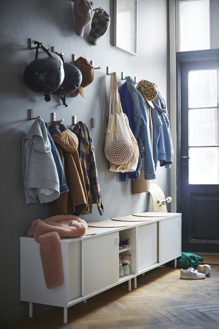 Recibidor con ganchos plegables IKEA 2019