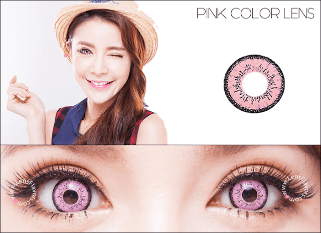 eos dolly eye pink circle lenses