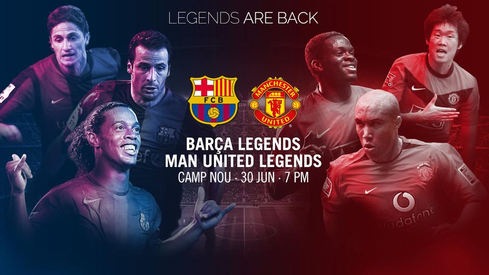 Barca Legends vs Man United Legends