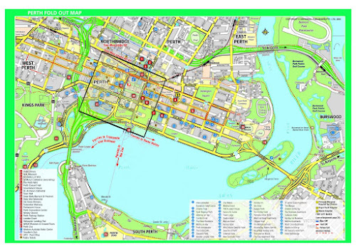 Mapa de Perth - Austrália