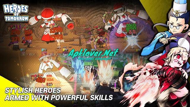 Heroes of Tomorrow MOD APK high damage
