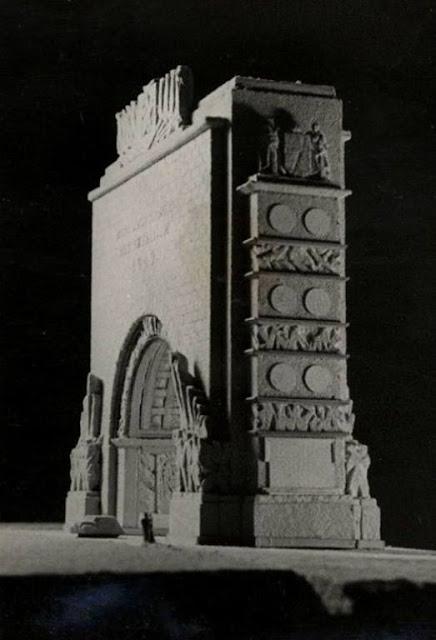 Не осуществленный проект триумфальной арки, олицетворяющей подвиг Советских освободителей Риги от немецко-фашистских захватчиков.