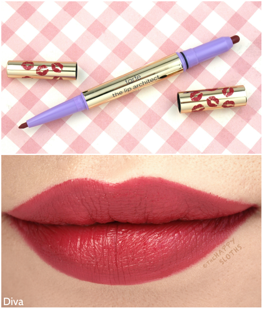 "Tarte The Lip Architect Lipstick & Liner in ""Diva"": Review and Swatches"