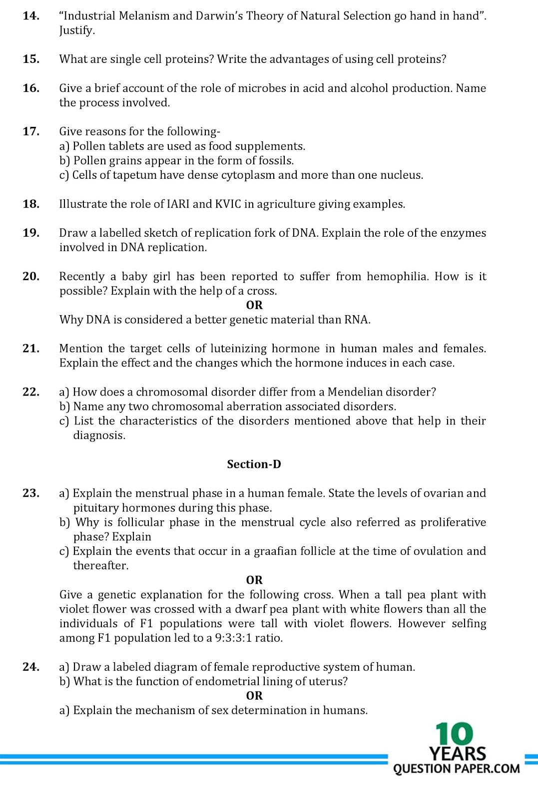 Isc 2017: biology class 12 sample paper-1.