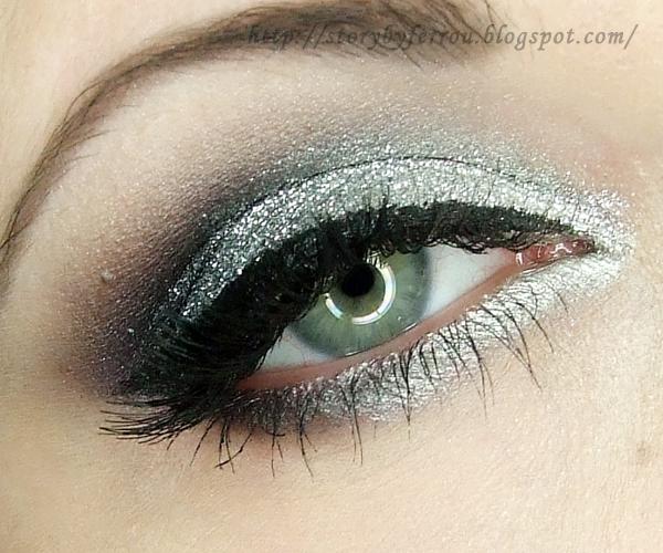 Ferrou Makeup Blog Makijaż Kosmetyki Sylwestrowy Błysk Makijaż