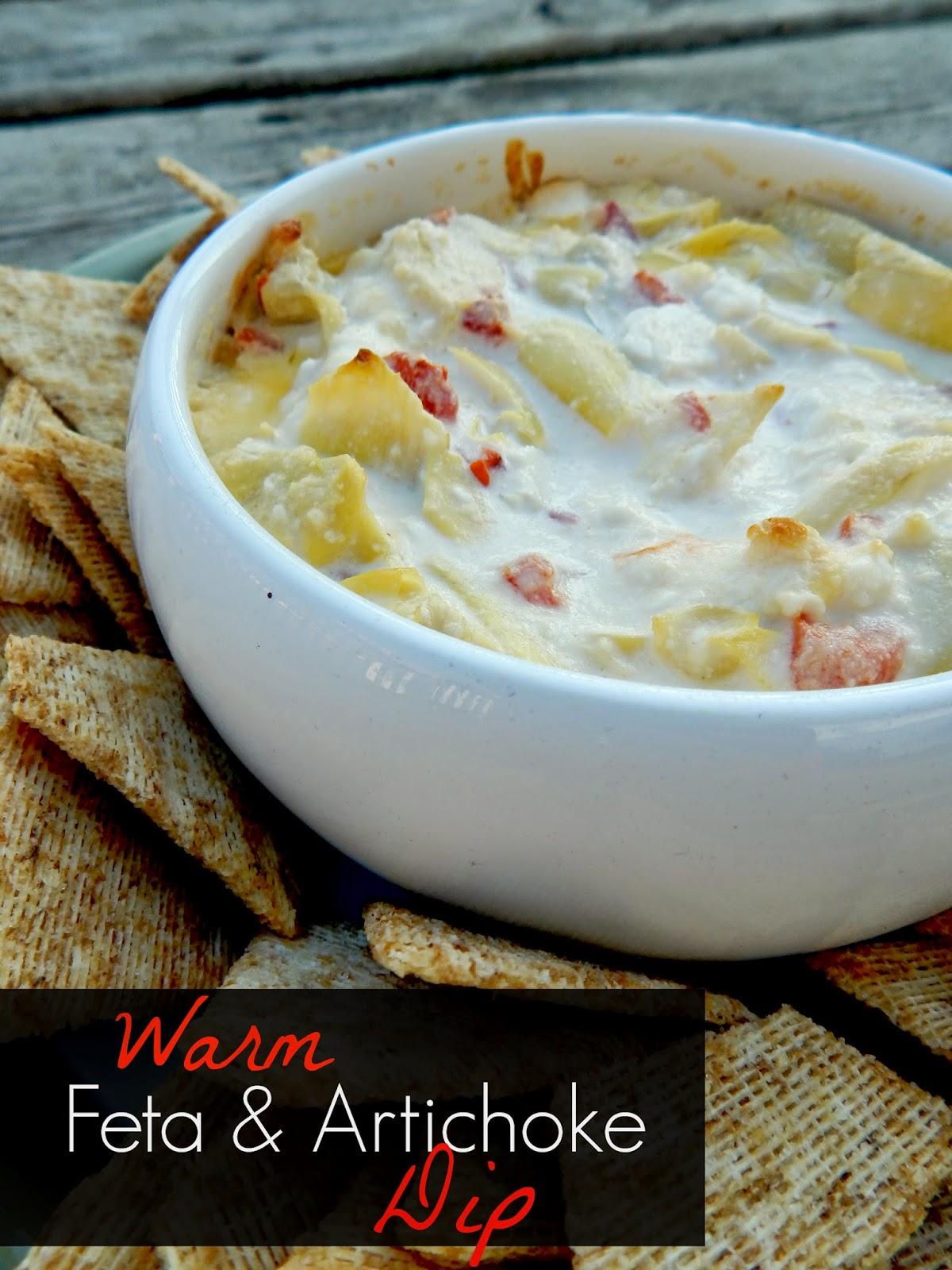 warm feta & artichoke dip (swetandsavoryfood.com)