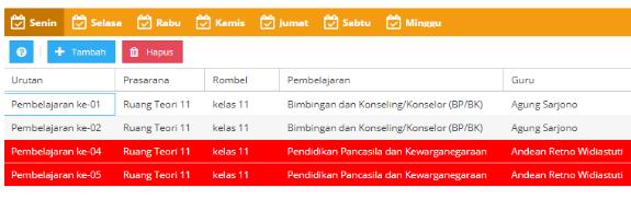 gambar masalah jadwal dapodik baris merah