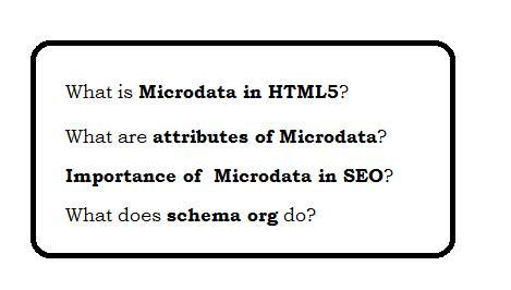 Microdata in HTML5 | Web Technology Experts Notes