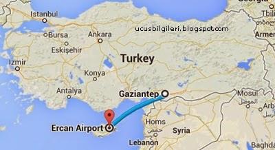 Gaziantep'ten Kıbrıs'a Uçakla Seyahat