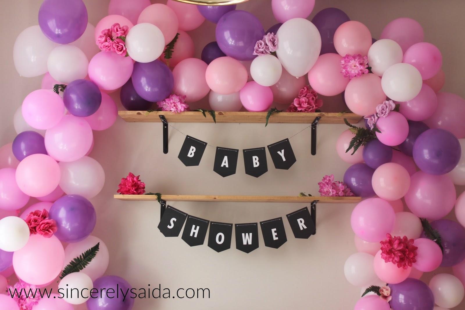 Sincerely Saida Baby Shower Flower Balloon Arch