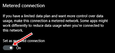 metered connection on