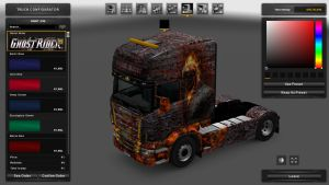 Ghost Rider Skin for Scania RJL