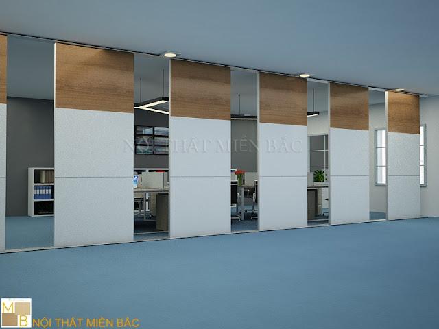 Ưu điểm nổi bật của dòng vách ngăn di động này đó chính là ngăn chia từng phòng, ban làm việc hiệu quả tạo sự thông thoáng nhất cho không gian thoát khỏi những bức tường bí bách