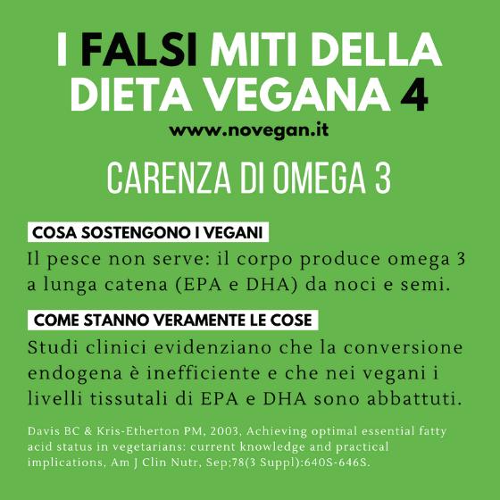La bufala degli omega 3 nella dieta vegana