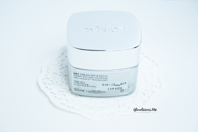 Packaging L'Oreal White Perfect Clinical Day Cream SPF 19 PA+++