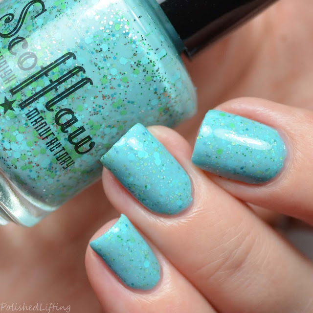 aqua crelly nail polish