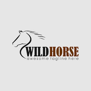 Wild Horse Logo Template Free Download Vector CDR, AI, EPS and PNG Formats