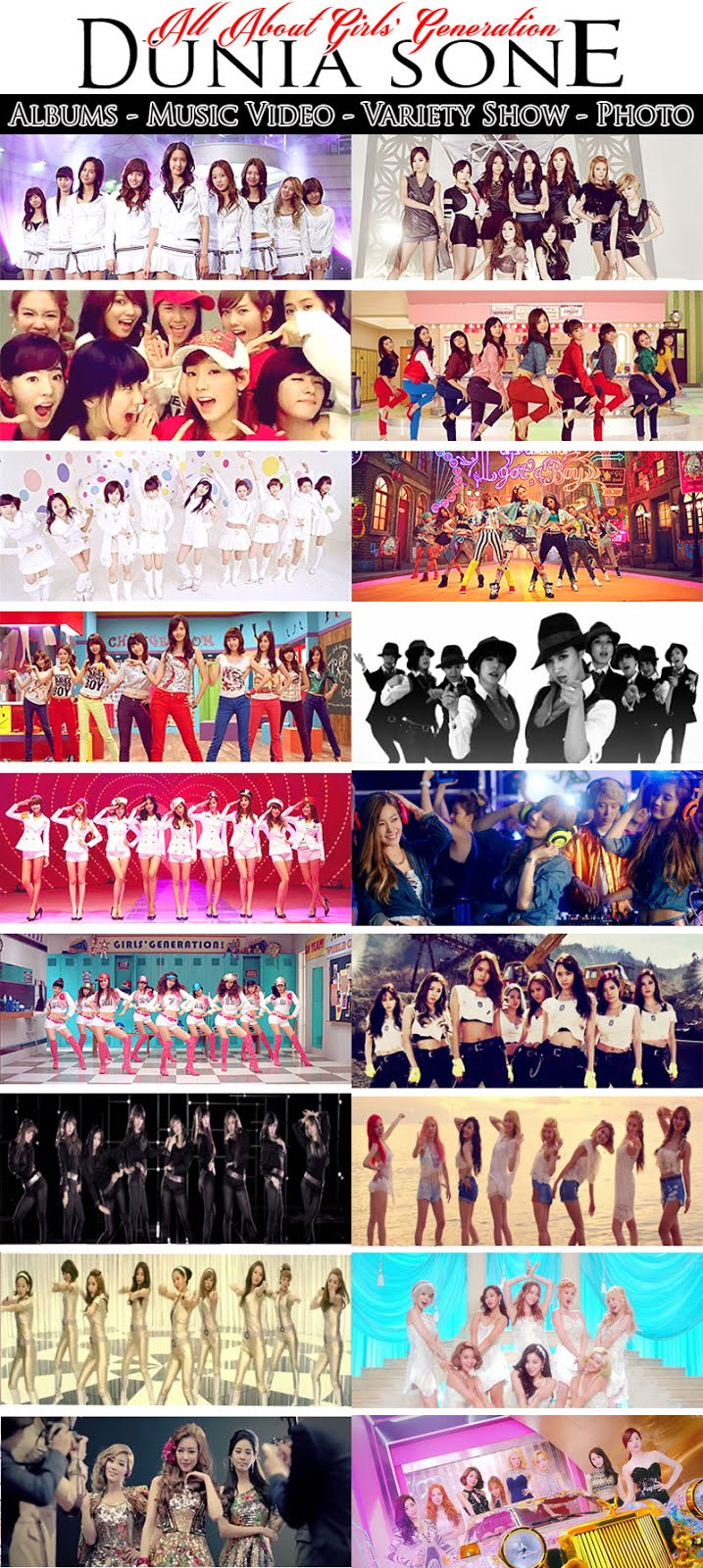 List SNSD Music Videos (Complete)